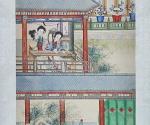 """Szene aus dem Roman """"Traum der Roten Kammer"""": Daiyu spielt qin"""
