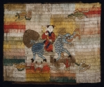Knabe mit Korallenzweig auf Qilin reitend