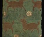Ziegen zwischen Pflaumenblütenzweigen und taiji-Motiven