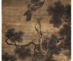 Adler auf einer alten abgebrochenen Kiefer